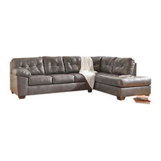 Ashley Alliston Sectional with Right Side Facing Chaise, Gray DuraBlend