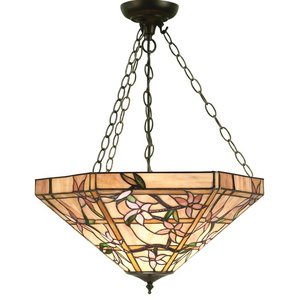 Clematis Large Inverted 3-Light Pendant, 60 W