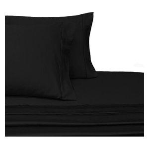 1197d156c503 4-Piece 100% Cotton Bed Sheet Set, Solid Hot Pink/Black Superstar ...