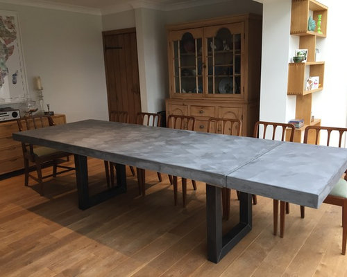Extendable Polished Concrete Table - Products