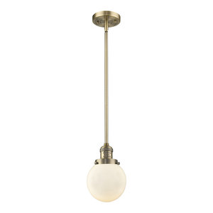 Innovations 201C-BB-G181-LED 1 Light Vintage Dimmable LED Mini Pendant Brushed Brass
