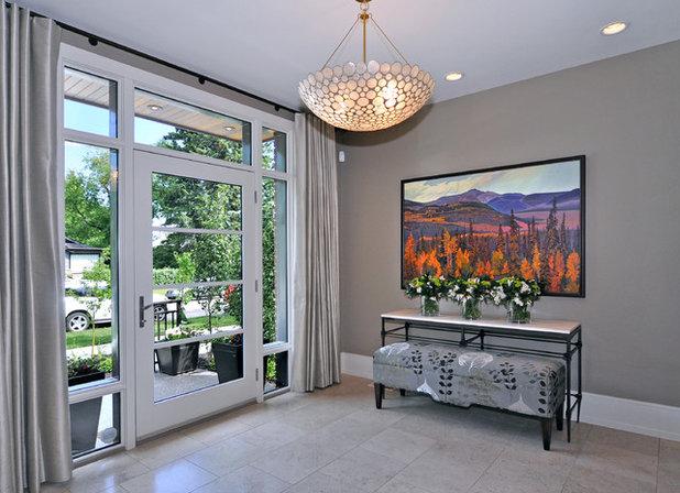 Transitional Entry by Bruce Johnson & Associates Interior Design