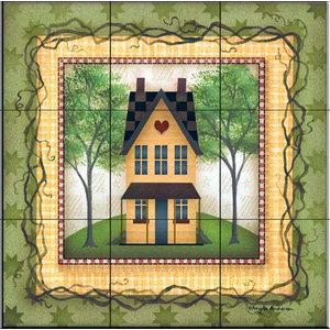Tile Mural, Folk House 1, 45.6x45.6 cm