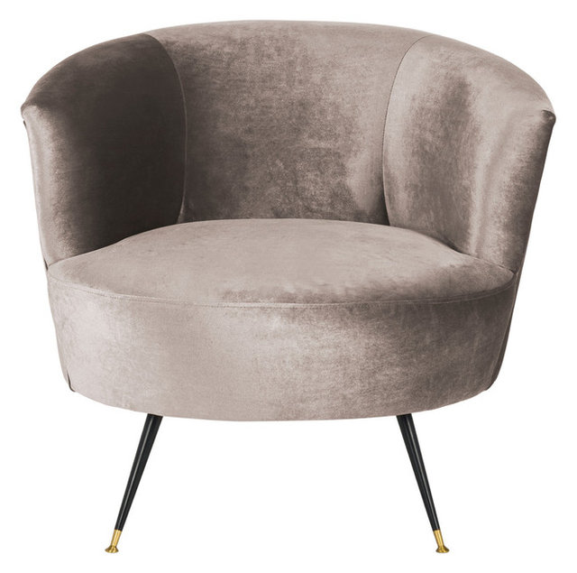 Arlette Velvet Retro Mid Century Accent Chair, Hazelwood