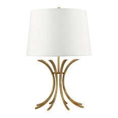 Rivers Table Lamp, Gold