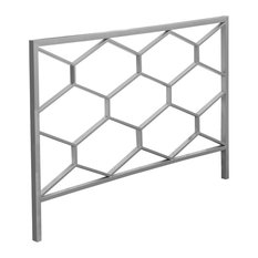 Monarch Full Queen Metal Headboard in Silver