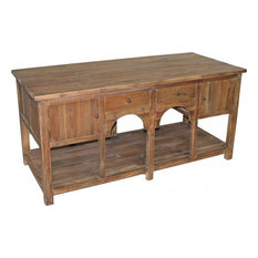Kitchen Island Large Natural Reclaimed Pine