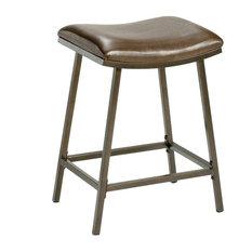 Saddle Counter/Bar Stool with Nested Leg