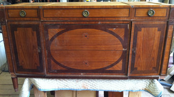 19th Century Continental commode-BEFORE