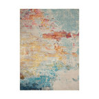 Nourison Celestial Modern Abstract Area Rug, Sealife, 7