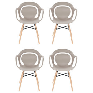 Chuck Dining Chairs, Beige, Set of 4