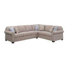 Emerald Home Angelica 2-Piece Sleeper Sectional, Off White