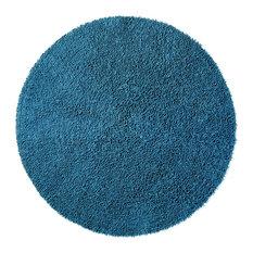 Shagadelic Chenille Twist 2'x2' Round Rug, Dark Blue