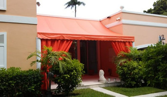 Awning With Decorative Curtains