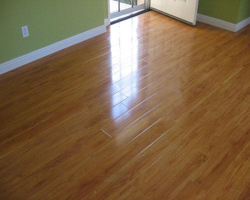 Golden Cherry Glossy Laminate Floor