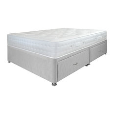 Airsprung Beds - Aria Orthopaedic Mattress and 4-Drawer Divan Bed Set, Grey, Double - Mattresses