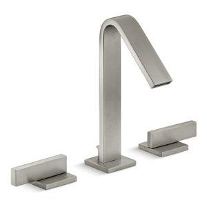 Kohler Loure Widespread Bathroom Faucet w/ Lever Handles, Vibrant Brushed Nickel