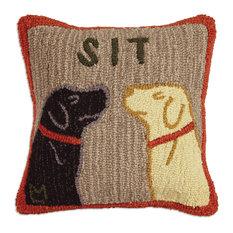 """Sit 18"""" Pillow"""