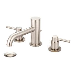 Motegi Two Handle Widespread Bathroom Faucet, PVD Brushed Nickel