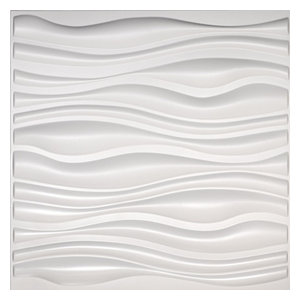 Easy Peel & Stick 3D Wall Panel, Gapless Serene Design, 12 Panels, 32 Sq.Ft.
