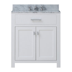 1st Avenue   Bartlett Pure White Bathroom Vanity, Without Mirror, Without  Faucet, 30