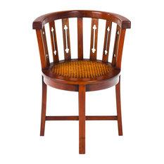 Ancient Mariner Furniture - Mahogany Village Rattan Tub Chair - Dining Chairs