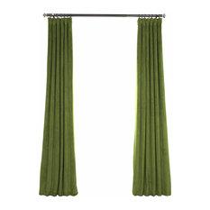 "Signature Blackout Velvet Curtain Single Panel, Basque Green, 50""x108"""
