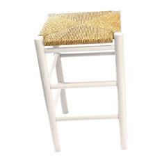 Calabash Wood Counter Stool 324W White