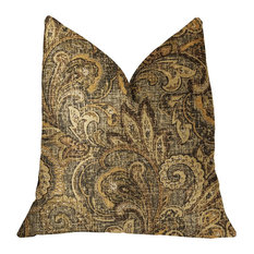 "Cypress Field Brown Luxury Throw Pillow, 22""x22"""