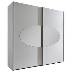 Malaga White Wardrobe with Mirror