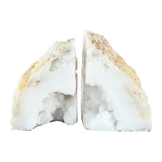 Natural Agate Bookends, Set of 2