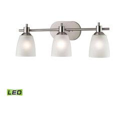 Jackson 3 Light Bathroom Vanity Light in Brushed Nickel