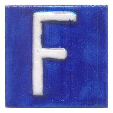 "Ceramic Tiles 2""x 2"", F, Set of 5 Tiles"