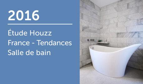Étude Houzz France : Tendances Salle de bain 2016