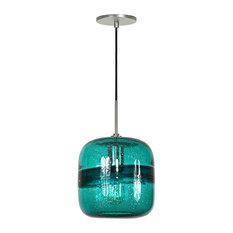 Teal pendant lighting houzz jesco lighting group light line voltage pendant light teal brushed nickel pendant lighting aloadofball Choice Image