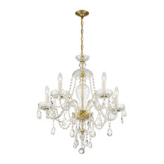 Candace 5 Light Polished Brass Chandelier