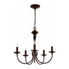"Candle 19"" Chandelier, Rubbed Oil Bronze"
