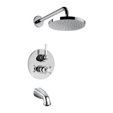 Firenze Thermostatic Valve With 2 Way Diverter Volume Control, Chrome Finish