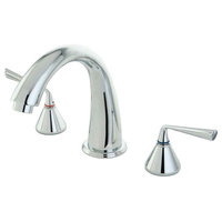 Modern Tub Filler With 2-Handle
