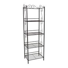 "Bookcase - 70""H Copper Metal Etagere"