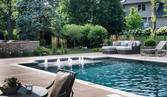 Outdoor Pool with Pool House and Outdoor Living Spaces