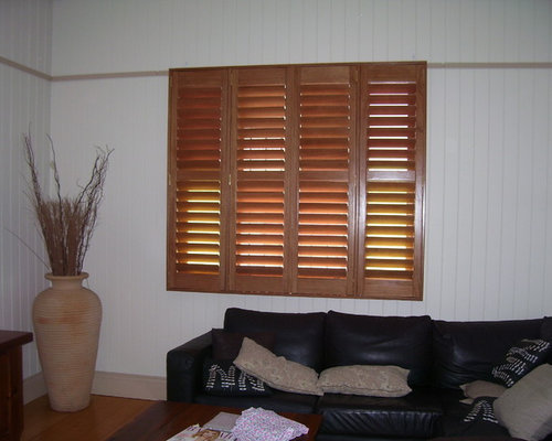 Internal Shutters - Stained Basewood - Indoor Shutters