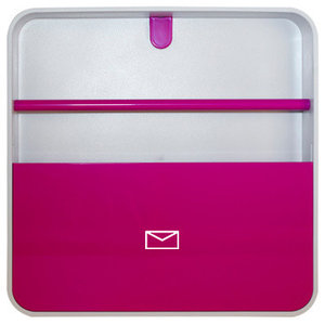 Wall-Mounted Document Organiser, Pink