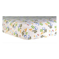 Trend Lab Print Flannel Crib Sheet, Dr. Seuss ABC