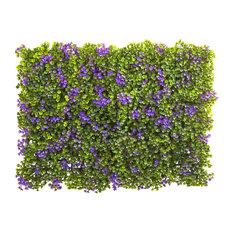 """Clover Mat Arrangements, Purple and Green, Set of 12, 6""""x6"""""""