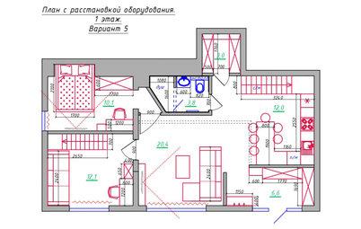 Поиск планировки: Двухуровневая квартира в Сочи — 5 планировок