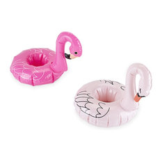 Flamingo and Swan Drink Floaties, 2-Piece Set