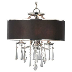 Echelon Semi Flush Convertible Chrome With Tuxedo Shade