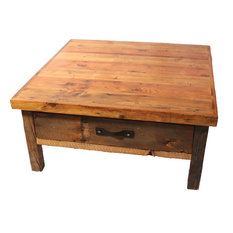 Reclaimed Wood Square Coffee TablesHouzz