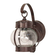 nuvo lighting nuvo 1 light 11 wall lantern onion lantern with clear seed antique courtyard outdoor lighting 1